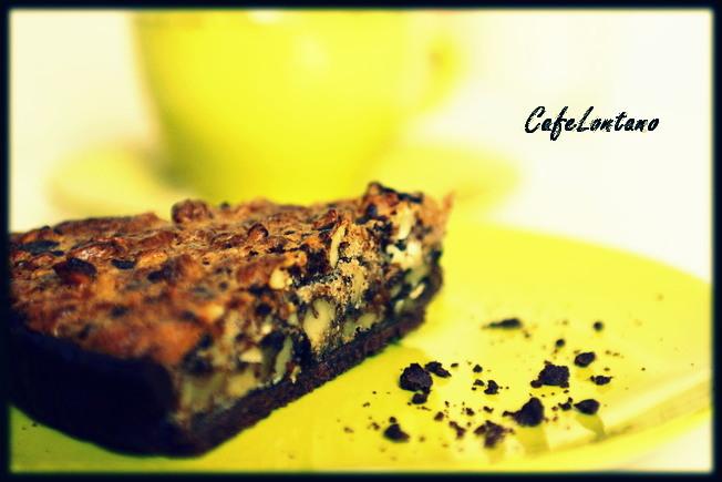 Cevizli-yer fıstıklı-çikolatalı ….. tart