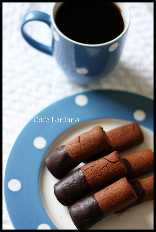 Çikolataya batırılmış nefis kurabiye