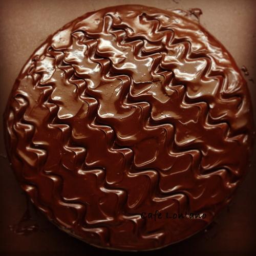 Cevizli üzümlü çikolatalı pasta 2
