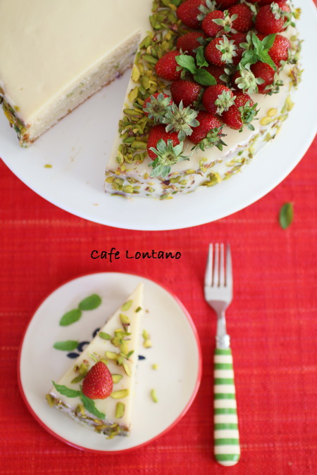 Çilekli ve yaz peynirli yaz pastası